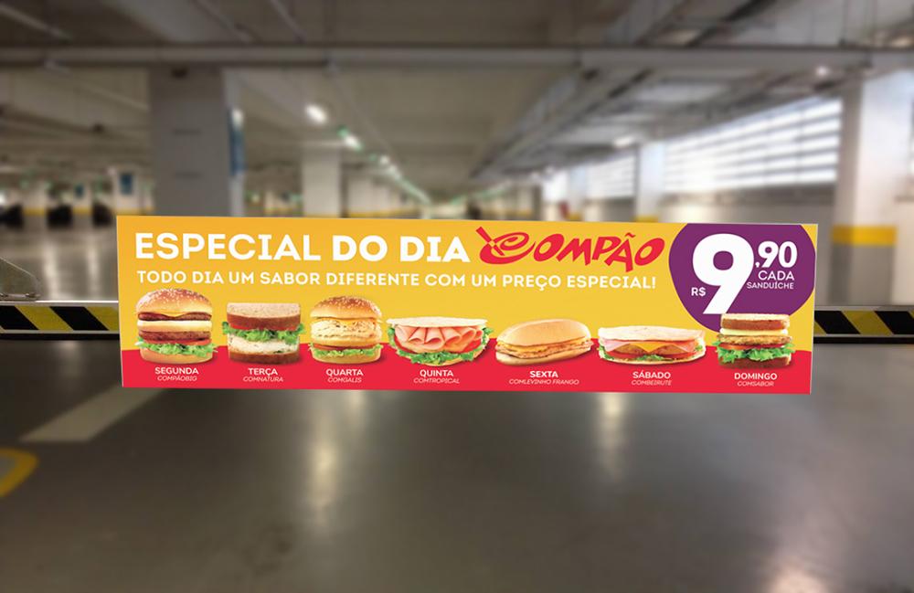 campanha compão promoção compão divulgação especial do dia compão cancela de estacionamento